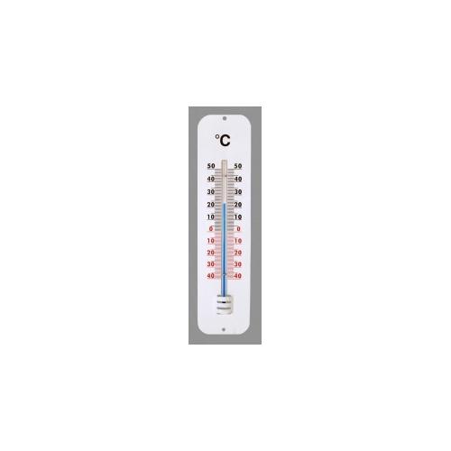 Наружный алюминиевый термометр 285x70 мм, белый 100