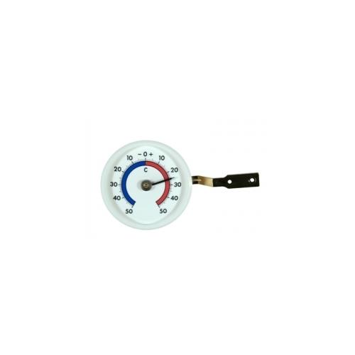 Термометр пластиковый оконный, круглый, диаметр 70 мм, белый 102418