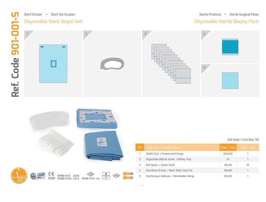 Одноразовый стерильный биопсийный пакет