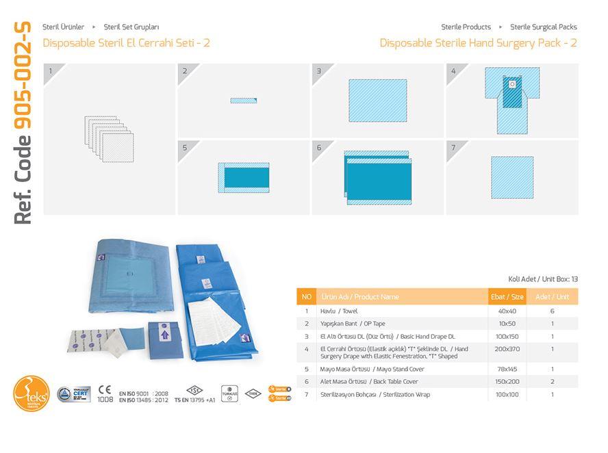 Одноразовый стерильный пакет для рук - 2