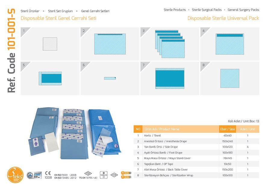 Одноразовый стерильный универсальный пакет (эпидуральная упаковка)