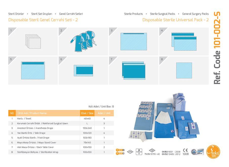 Одноразовый стерильный универсальный пакет-2 (эпидуральная упаковка)