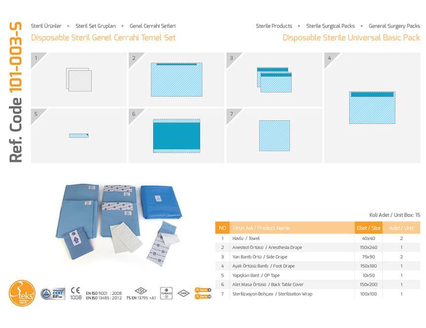 Одноразовый стерильный универсальный базовый пакет (эпидуральная упаковка)