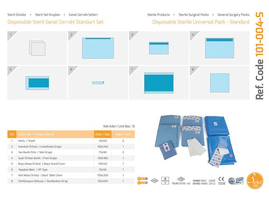 Одноразовый стерильный универсальный пакет - стандартный (эпидуральная упаковка)