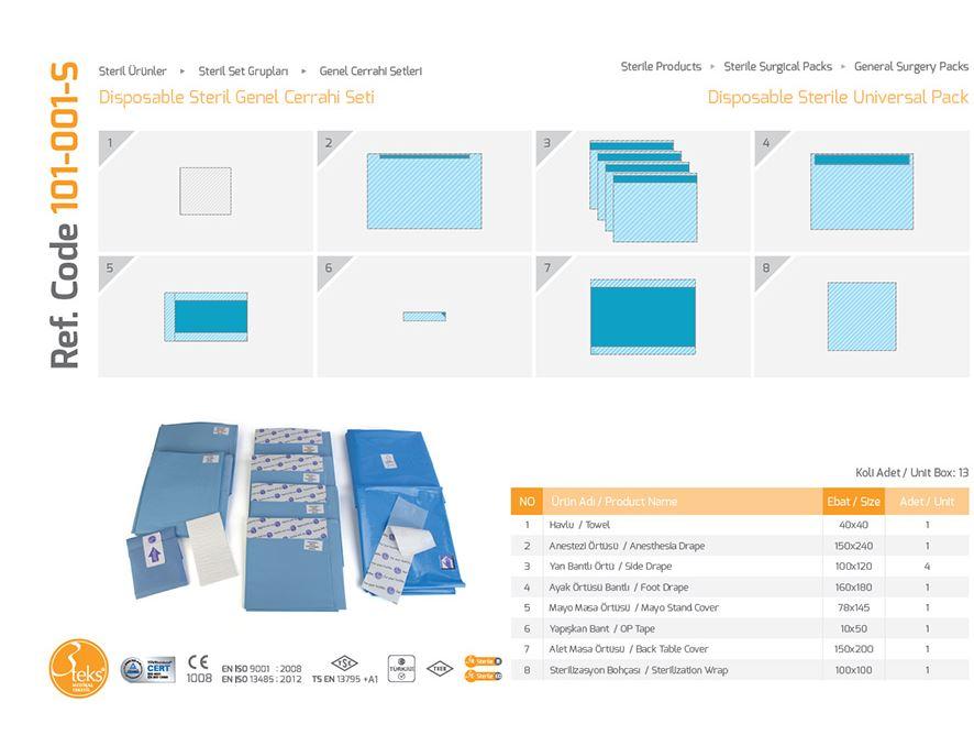 Одноразовый стерильный универсальный пакет (универсальная упаковка)