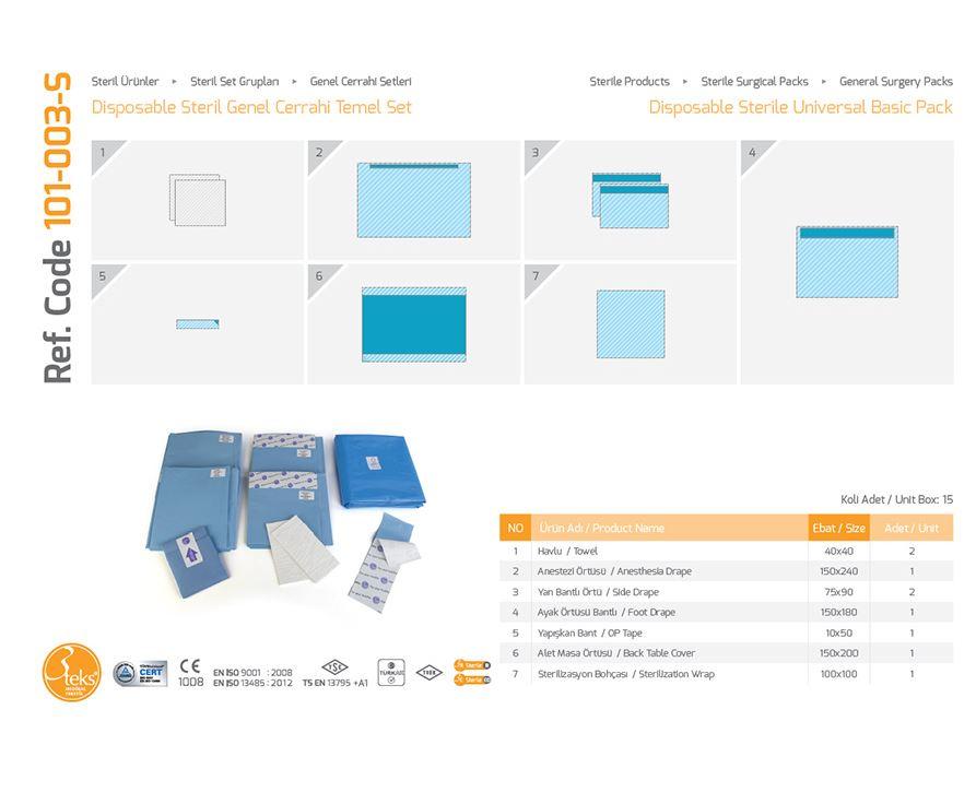 Одноразовый стерильный универсальный базовый пакет (универсальная упаковка)