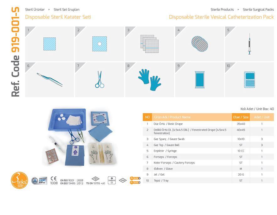 Пакет стерильной везической катетеризации