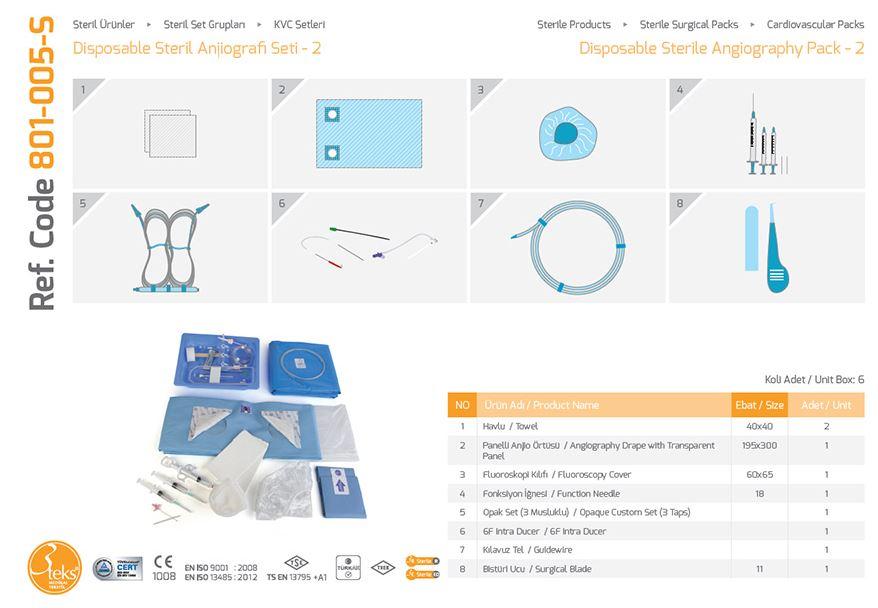 Пакет одноразовой стерильной ангиографии - 2