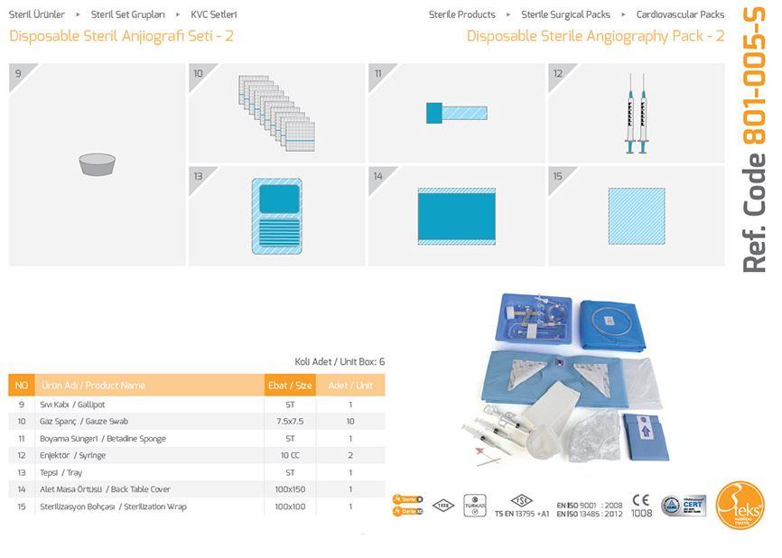Пакет одноразовой стерильной ангиографии - 2 (2)