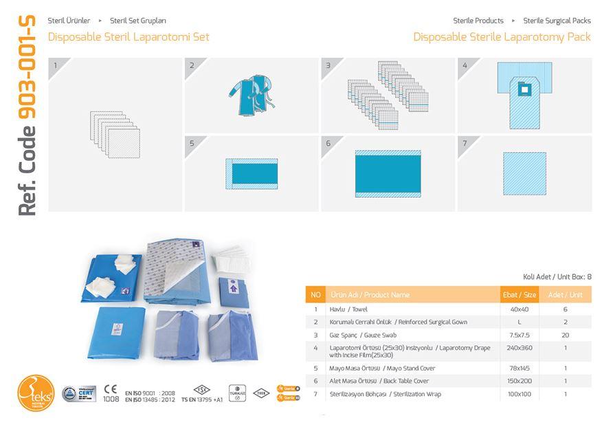 Одноразовый стерильный пакет для лапаротомии