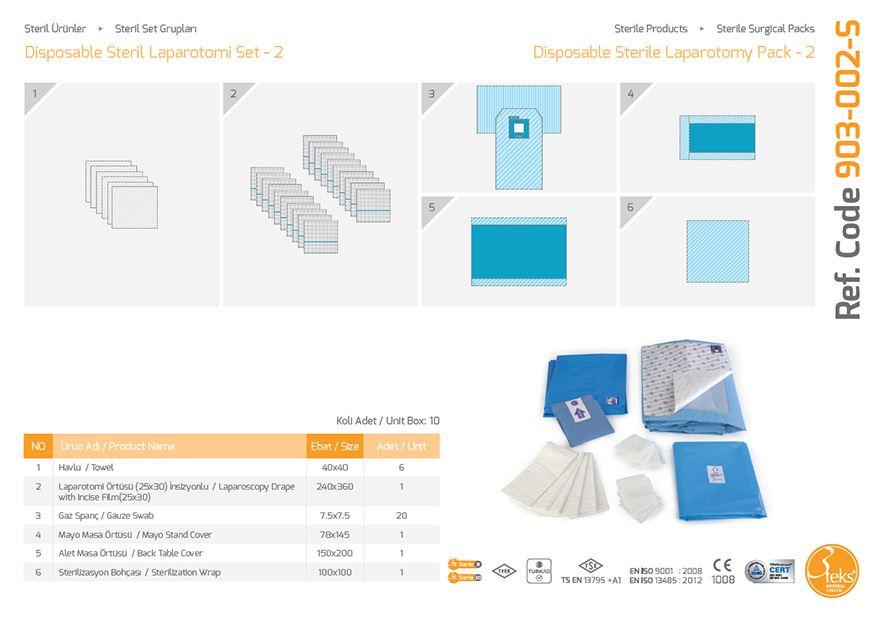 Одноразовый стерильный пакет для лапаротомии - 2