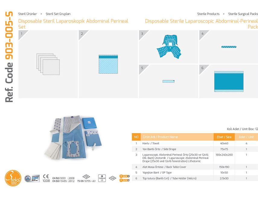 Одноразовый стерильный лапароскопический абдоминально-промежностной пакет