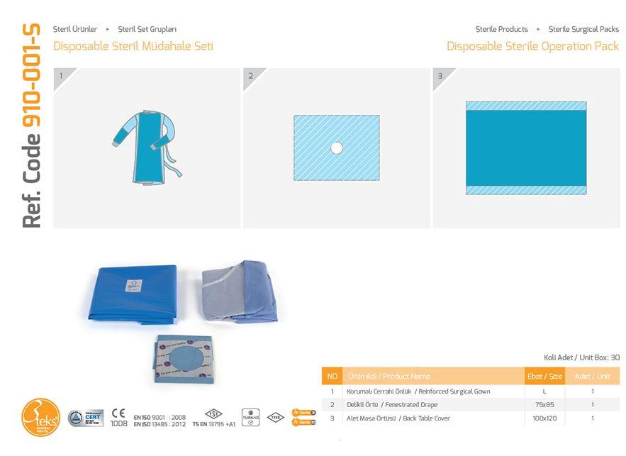 Одноразовый стерильный пакет операций