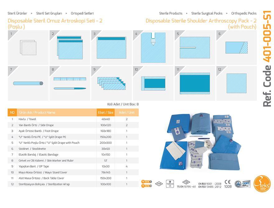Одноразовый стерильный пакет артроскопии плеча - (с мешком) 3
