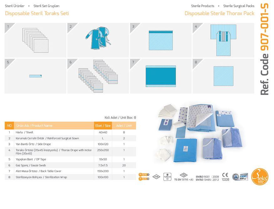 Купить Одноразовый стерильный пакет Thorax Pack