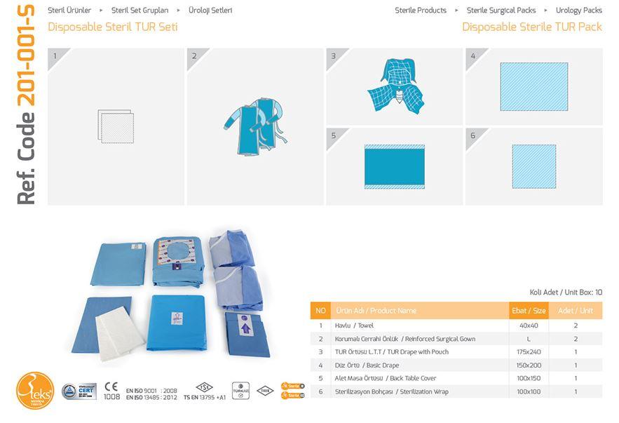 Урологический пакет Стерильная урология TUR Pack - 1