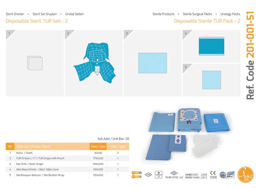 Урологический пакет Стерильная урология TUR Pack - 2