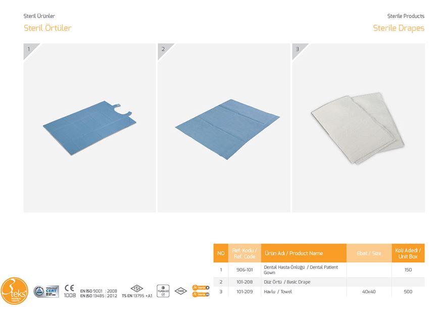 Стерильные заготовки Drapes Basic Drape