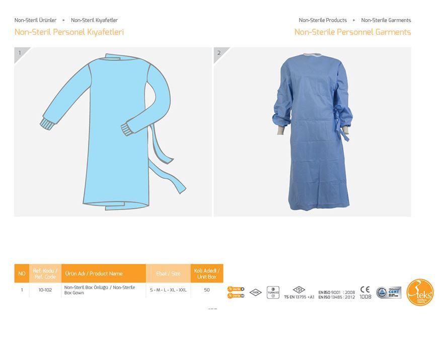 Одежда Non-Sterile Personnel Garments
