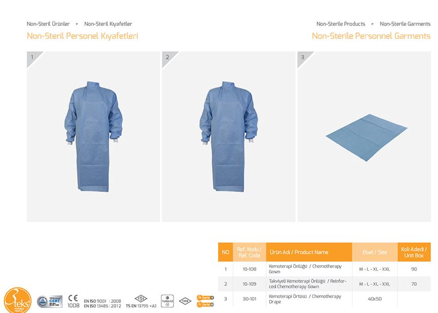 Buy Non sterile clothing for 6 staff