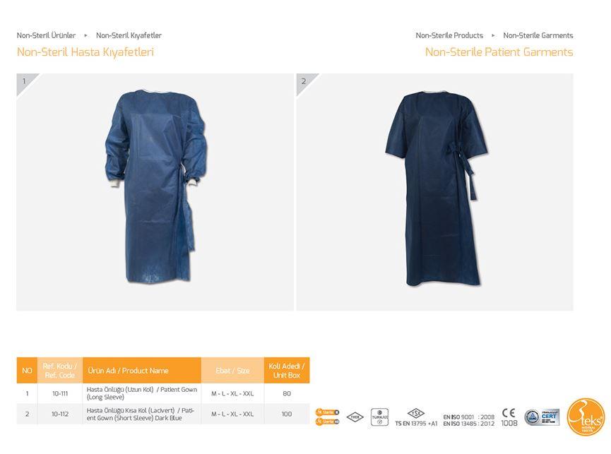 Нестерильная одежда Non-Sterile Patient Garments 2