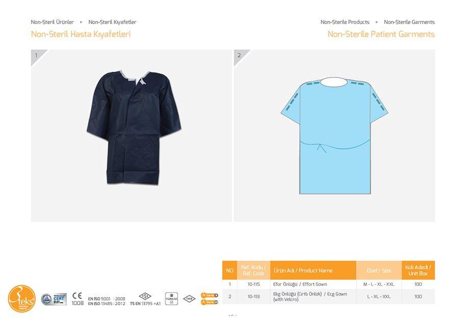 Нестерильная одежда для пациентов 3