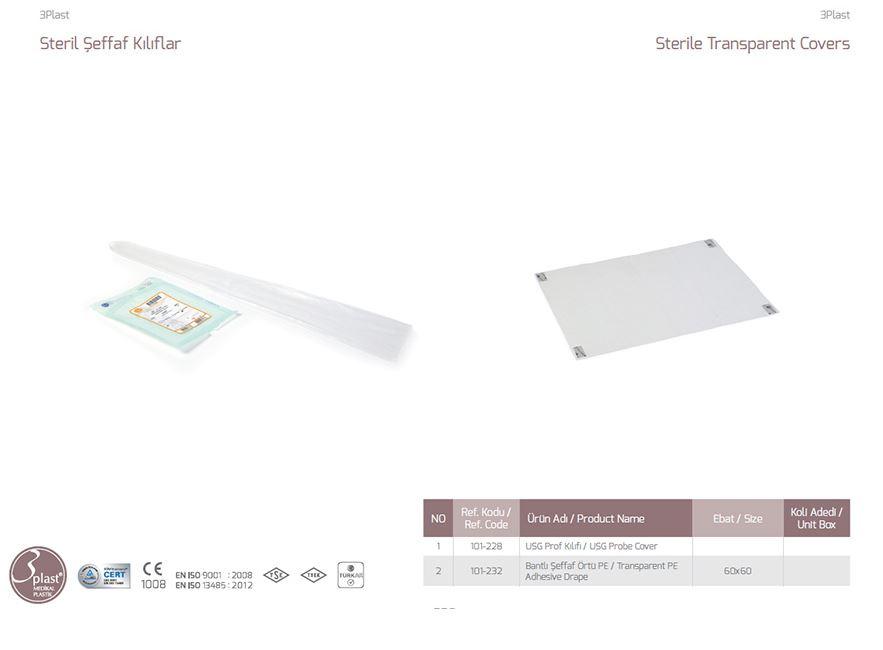 Стерильные прозрачные чехлы Прозрачная пленка PE Adhesive