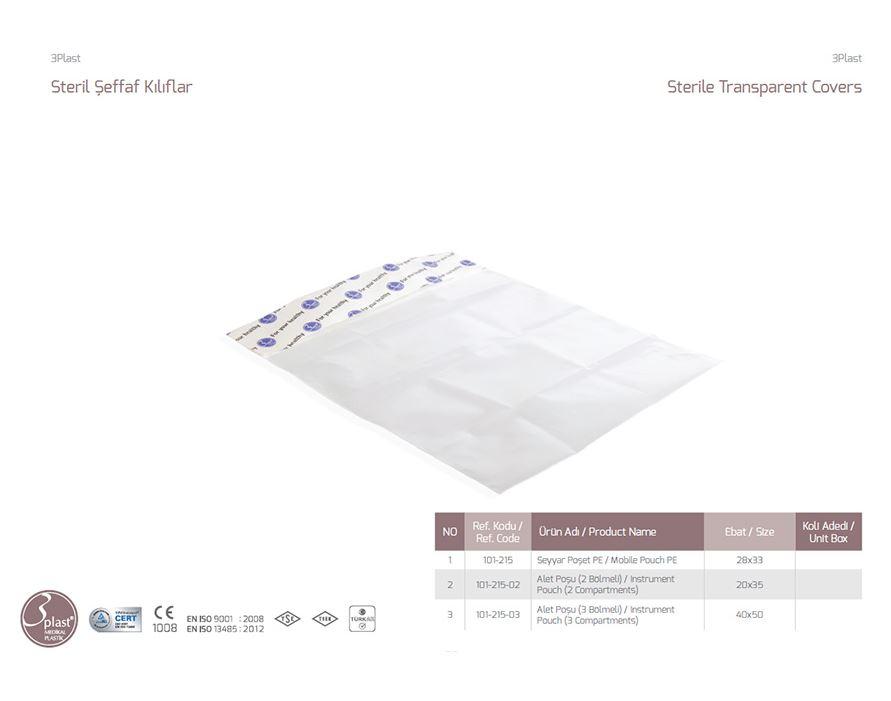 Стерильные прозрачные чехлы для мобильного телефона PE