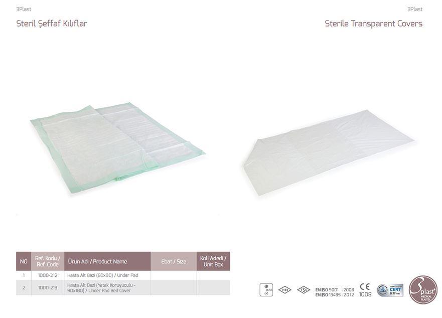Стерильные прозрачные чехлы под подушкой