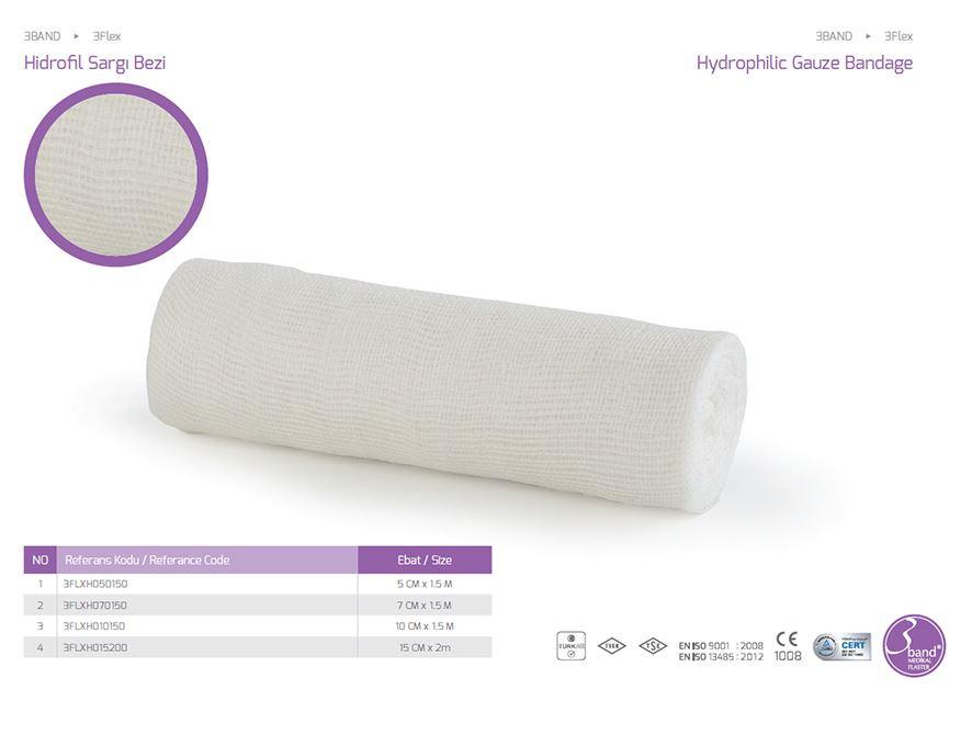 Бинт Flex Hydrophilic Gauze Bandage