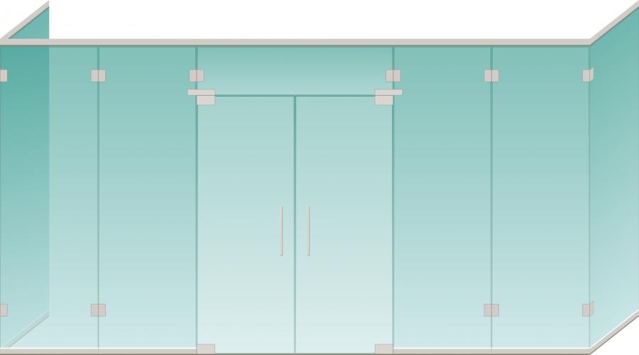 Купить Дверь входная ,прозрачное стекло