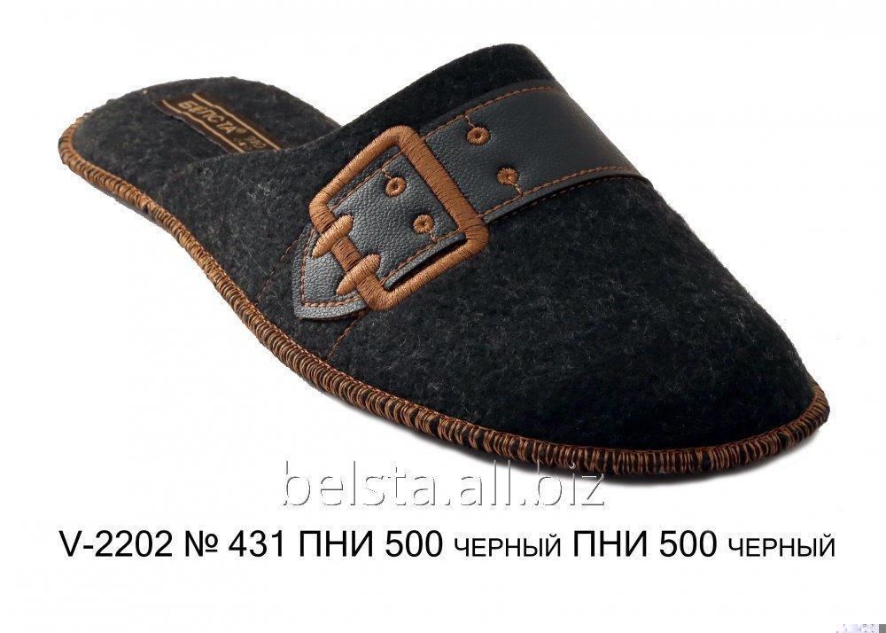 Мужские тапочки V-2202 № 431 ПНИ 500 черный ПНИ 500 черный