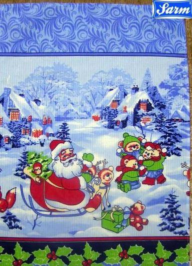 Вафельное полотенце, новогоднее 45х70см.