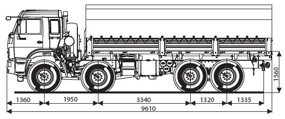 Бортовой автомобиль KAMAZ-63501-40