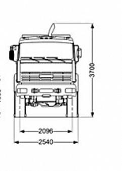 Бортовой автомобиль KAMAZ-6560-43
