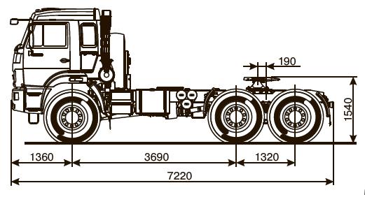 Седельный тягач KAMAZ-53504-46