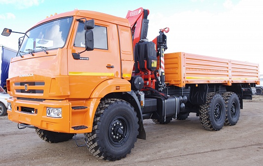 Бортовой автомобиль 65861-400-01 с кму fassi f 155 a.0.22 на шасси камаз-43118
