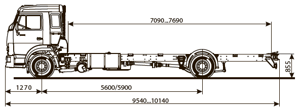 Шасси Kamaz-5308-48 (a5)