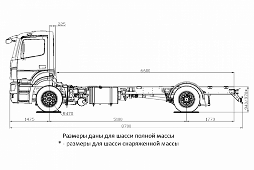 Шасси Kamaz-5325-1001-69 (g5)