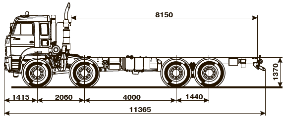Шасси Kamaz-6560-54