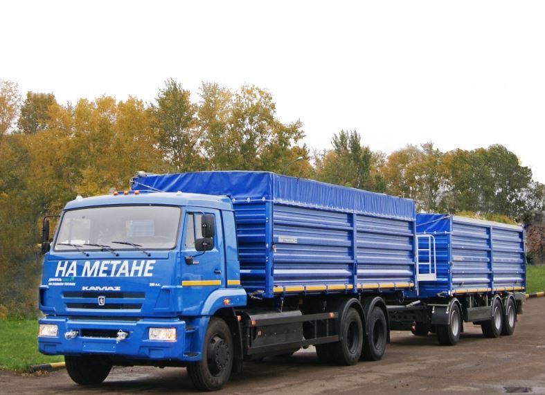 Автопоезд зерновоз 68902С на шасси KAMAZ-65117-32 (6х4)