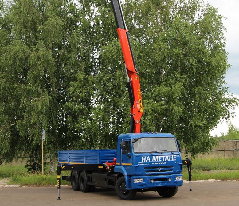 Бортовой автомобиль KAMAZ-65117-32 с КМУ