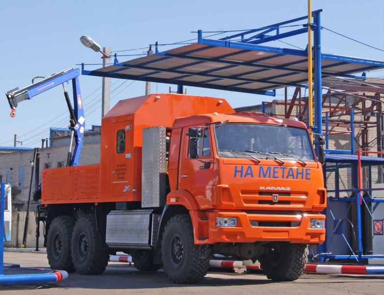 Грузопассажирский автомобиль АРОК с КМУ РМ8022 шасси KAMAZ-43114-3861-30 (6х6)