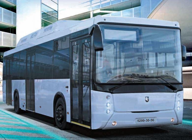 Городской полунизкопольный автобус НЕФАЗ 5299-30-56 на КПГ