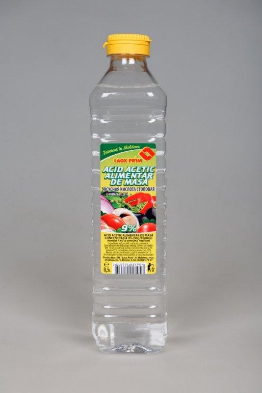 Уксус столовый 9% 0,5 литр, Acid acetic alimentar de masa 9% 0.5 litru