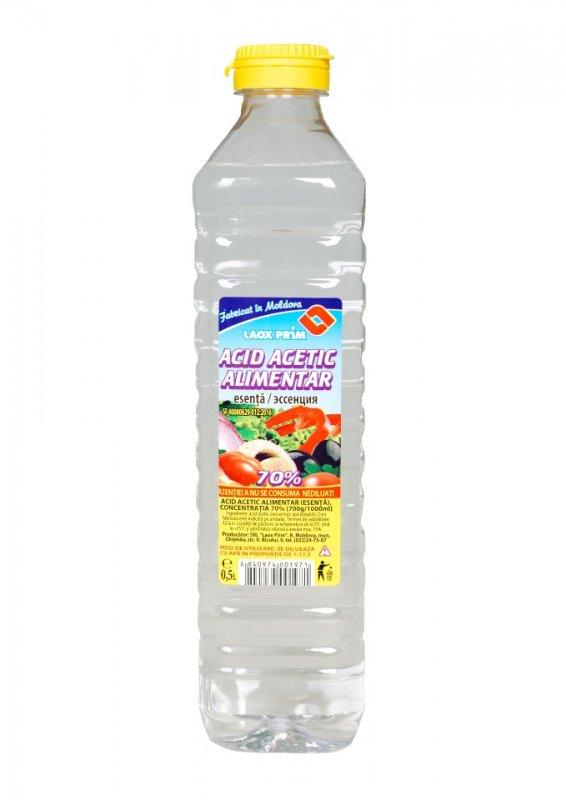 Уксусная эссенция 70 % 1 литр, Acid acetic alimentar esentie 70% 0.5 litru
