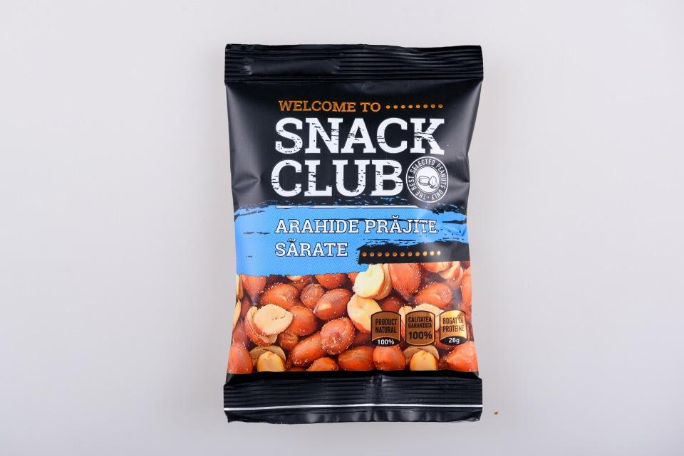 """Арахис без кожуры соленый, жареный  """"Snack Klub"""" 40g, Miez de arahide in invelis, prajit sarat Snack Klub 40g"""