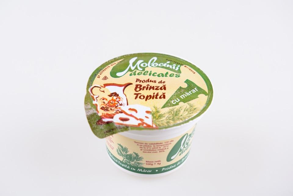 Плавленый сыр 40% (4 вида), Produs de brinza topita 40% cu marar