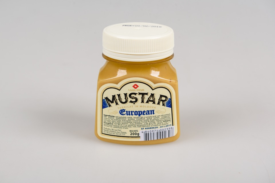 Горчица Европейская 200 gr, Mustar European 200 gr