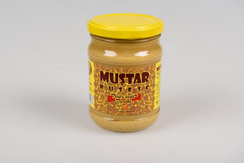 Горчица Русская 270 gr, Mustar Rusesc 270 g (банка стекло)